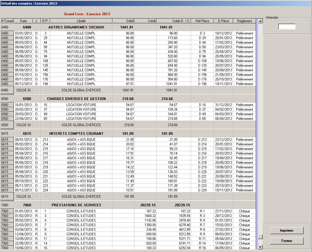 Grand livre comptable comptabilit orplan bnc - Le grand livre comptable ...